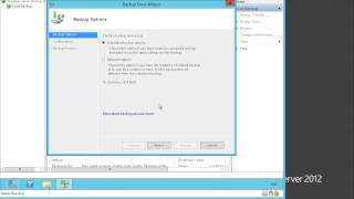 Server 2012 Windows backup and restore