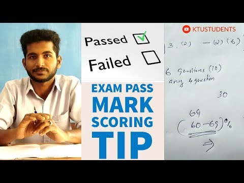 Pass Mark Scoring Tip in KTU Engineering Examination | Explained by a KTU Student from MEA