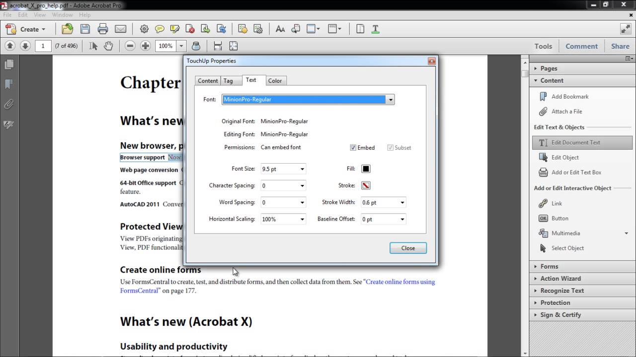 How To Edit Text In Acrobat Youtube