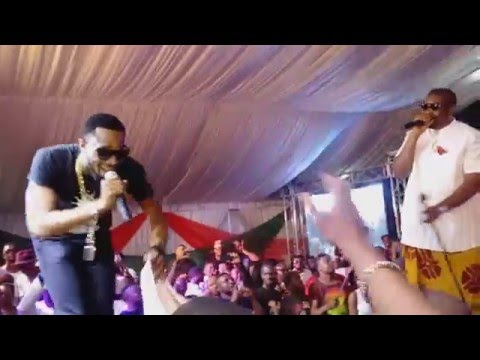 Dbanj, Don Jazzy, and Timaya on stage together at the I concur concert in Port Harcourt