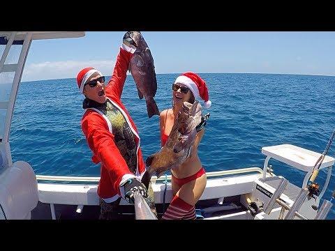 SPEARFISHING SANTA'S  (FISHING + SPEARFISHING + WESTERN AUSTRALIA + VIDEOS)