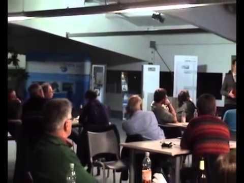Andreas Zettel Varta Hautnah - Vortrag Energiestammtisch bei NEWI SOLAR am 11.2.2014