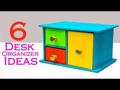 6 Easy Diy Desk Organizer Ideas