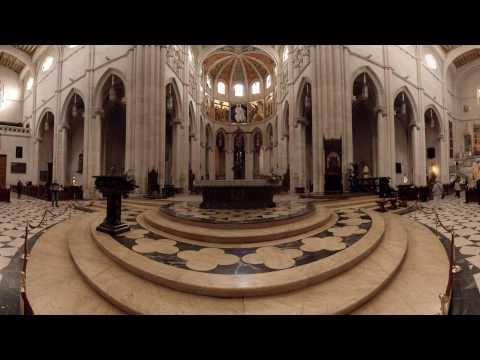 360 video: Inside Almudena Cathedral, Madrid, Spain