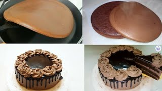 Chocolate Cake in Fry Pan   Eggless & Without Oven   Chocolate cake Recipe
