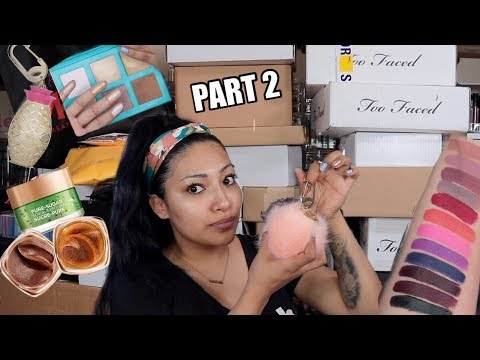 PART 2 UNBOXING MY MAKEUP PR PACKAGES! NEW MAKEUP RELEASES + GIVEAWAY