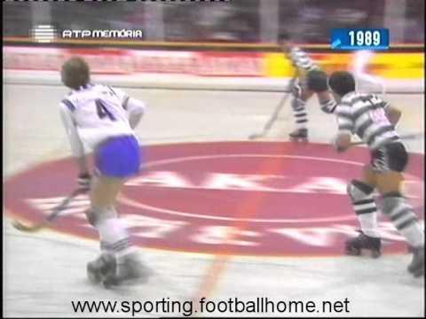 Hoquei Patins :: Sporting - 12 x Kurink (Bélgica) - 2 de 1988/1989 Taça dos Campeões 1ª ronda - 1ª Mão
