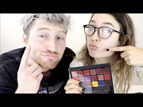 BOYFRIEND HELPS ME MIX PERFECT LIPSTICK SHADE