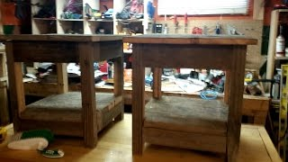Reclaimed Barn Wood End Tables -- Brian's Workshop