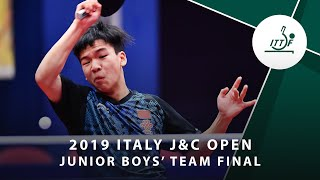 Артем Тихонов vs Xiang Peng | Italy J&C Open 2019 (JBT Final)