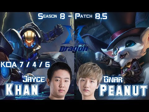 KZ Khan JAYCE vs KZ Peanut GNAR Top - Patch 8.5 KR Ranked