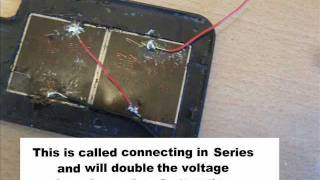 Solar CellPhone Charger - Homemade(http://www.epicphysics.com/physics-science-fair-projects/solar-powered-cell-phone-hack/ This video shows a way to convert a normal cell phone to a solar cell ..., 2011-06-02T19:09:28.000Z)
