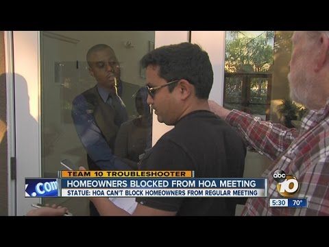 Residents Blocked From Entering HOA Meeting