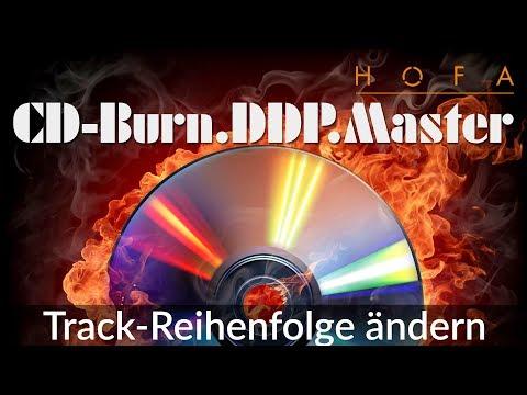 Track-Reihenfolge ändern in HOFA CD-Burn.DDP.Master