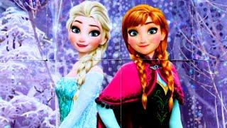 Холодное Сердце 2 - Анна и Эльза - собираем кубики пазлы для детей с героями мультика Frozen 2
