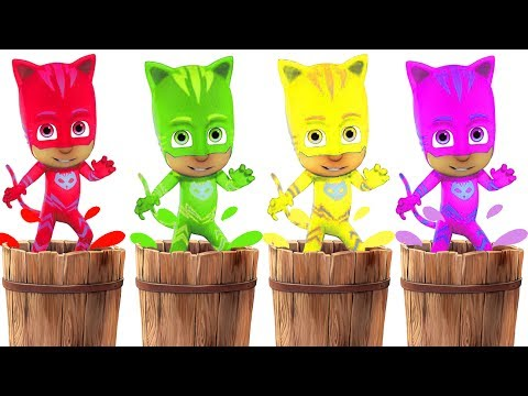 Learn Colors CATBOY ⭐Kids Video⭐ With PJ MASKS Toys And Catboy Cartoon