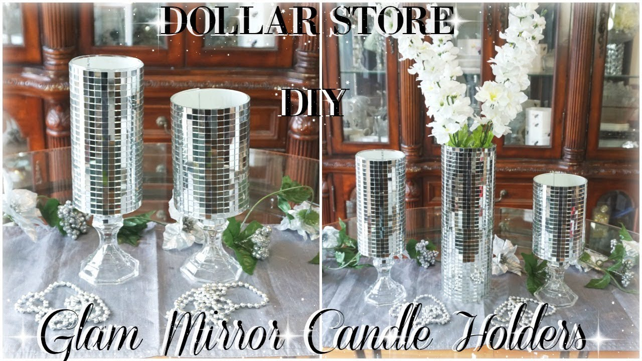 Download DIY DOLLAR STORE | GLAM MIRROR CANDLE HOLDERS | DIY BLING ROOM DECOR | DOLLAR STORE DIY HOME DECOR