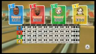 Wii Sports Resort - Bowling: Standard (4 Players: All Perfect Games!)