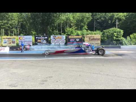 Lebanon Valley Speedway slow motion burnout