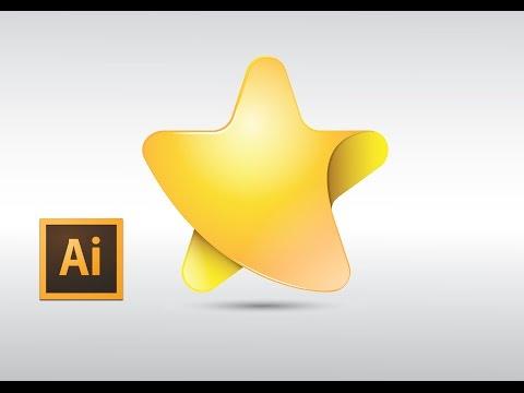 Adobe Illustrator Fashion Star Logo design