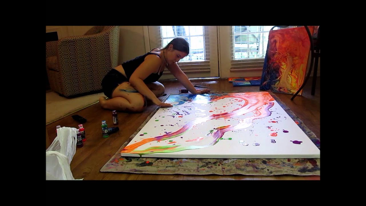 Psychedelic Time Lapse Painting  YouTube