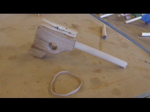 Rubber band gun - wooden toys