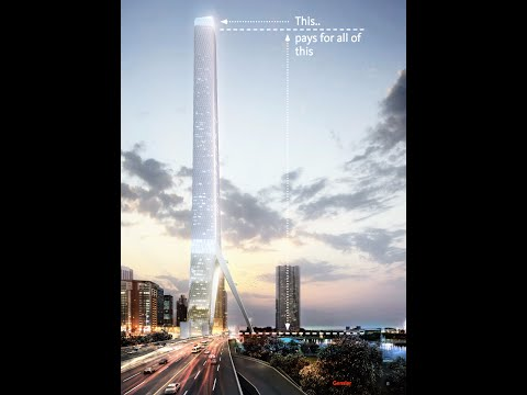 CHICAGO  Gateway Tower (610m) : Design Unveiled for Site of Cancelled Chicago Spire tower