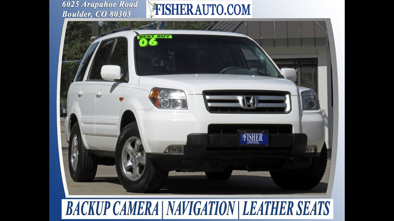 used cars 2006 honda pilot ex l w navi boulder longmont denver fisher auto pc7162 youtube. Black Bedroom Furniture Sets. Home Design Ideas