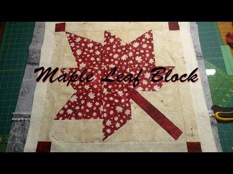 Large Maple Leaf Block