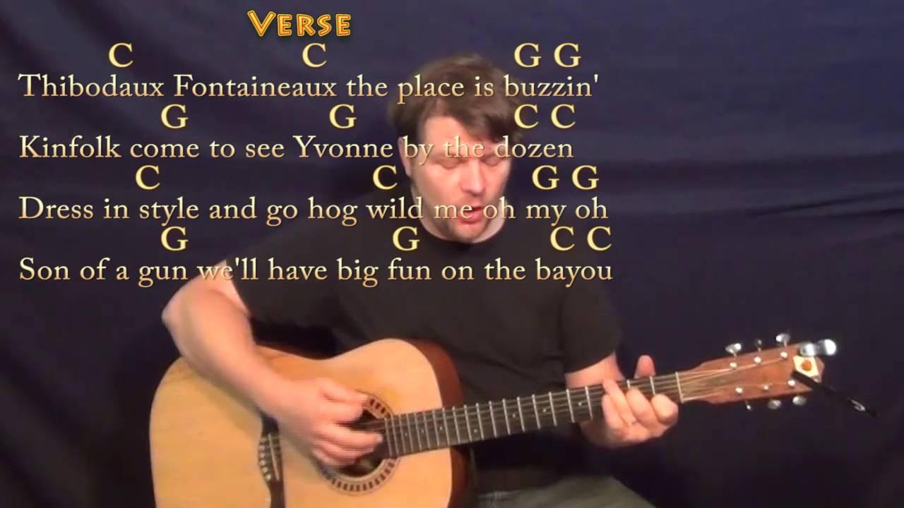 Jambalaya Hank Williams Guitar Cover Lesson With Chordslyrics