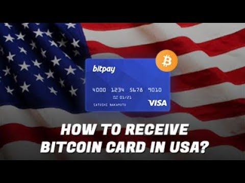 HOW TO RECEIVE BITCOIN CARD IN USA?