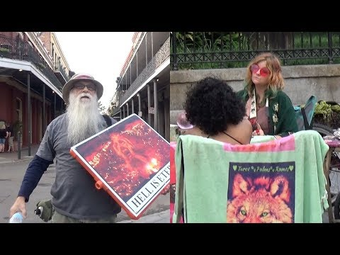 Street Preacher comes against SATANIC WITCHCRAFT in New Orleans