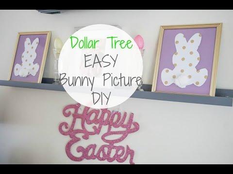 *Dollar Tree DIY EASY Cute Bunny Pictures| Megan Navarro| #easterdiy