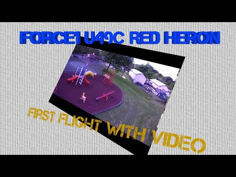 A force to be reckoned with! We fly the Force1 U49C RED HERON Aerial Video Drone
