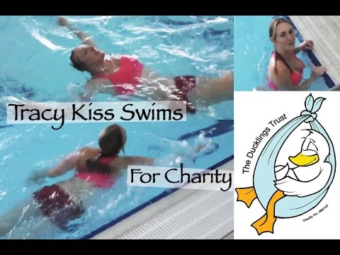 Tracy Kiss Swims 100m For The Ducklings Trust Charity