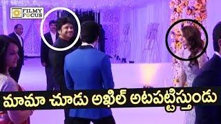 akhil making fun of samantha chaysam wedding reception filmyfocuscom