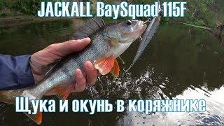 JACKALL BaySquad 115F. Щука и зачетный окунь в коряжнике