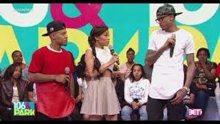 August Alsina READS the HELL outta Keisha Chante on 106 & park @twitter goes in