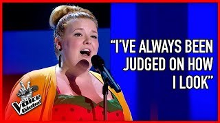 INSECURE girl wows coaches with BEAUTIFUL voice | The Voice Global