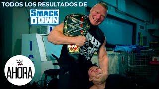Todos los resultados de SmackDown: WWE Ahora, Octubre 25, 2019