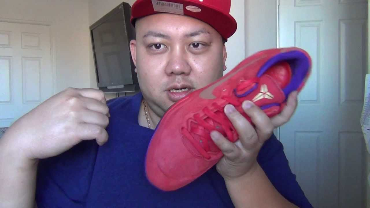 112683fc07e2 Nike Zoom Kobe 8 EXT YOTS Red Suede