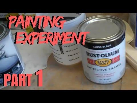 PART 1 C10 PAINTING EXPERIMENT | Rustoleum Paint Job