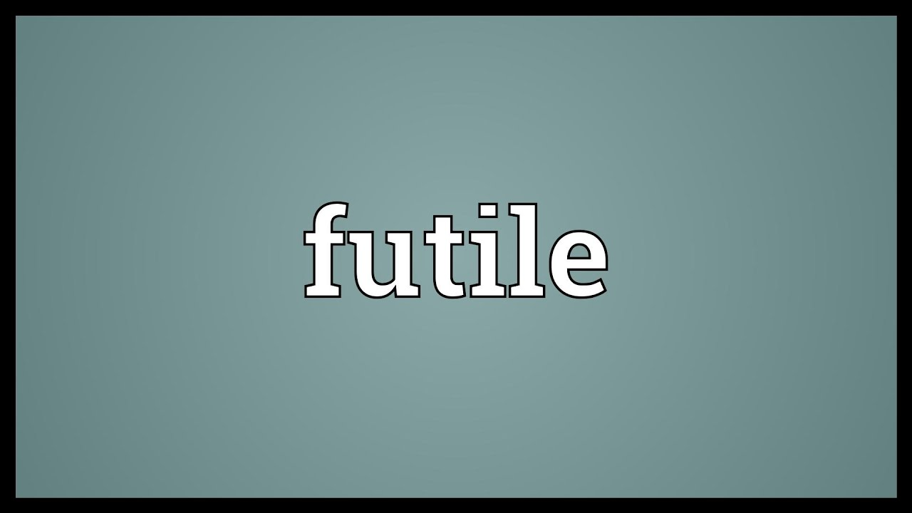 Futile Meaning