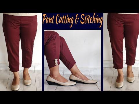 Narrow Plazzo Pant Cutting And Stitching In Hindi | English Subtitles | Stitch By Stitch