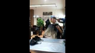Meine Glatze wird gemacht