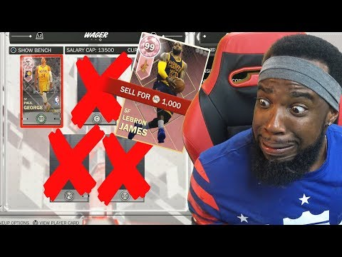 LOSER QUICKSELLS PINK DIAMOND LINEUP WAGER! NBA 2K18 MyTeam