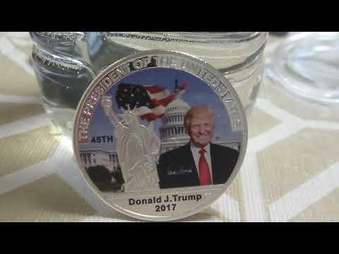 2017 Silver Dollar Donald J Trump Coin Silver Make America Great Again