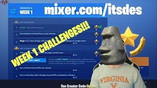 Find *ALL* 3 GIANT FACES (Fortnite Week 1- Season 8 Challenges)