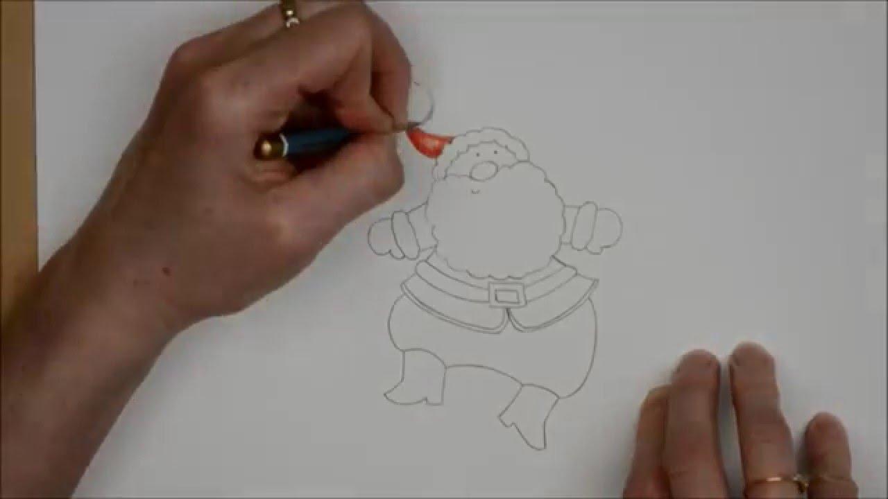 Comment Dessiner Un Père Noël Avec Des Crayons De Couleur