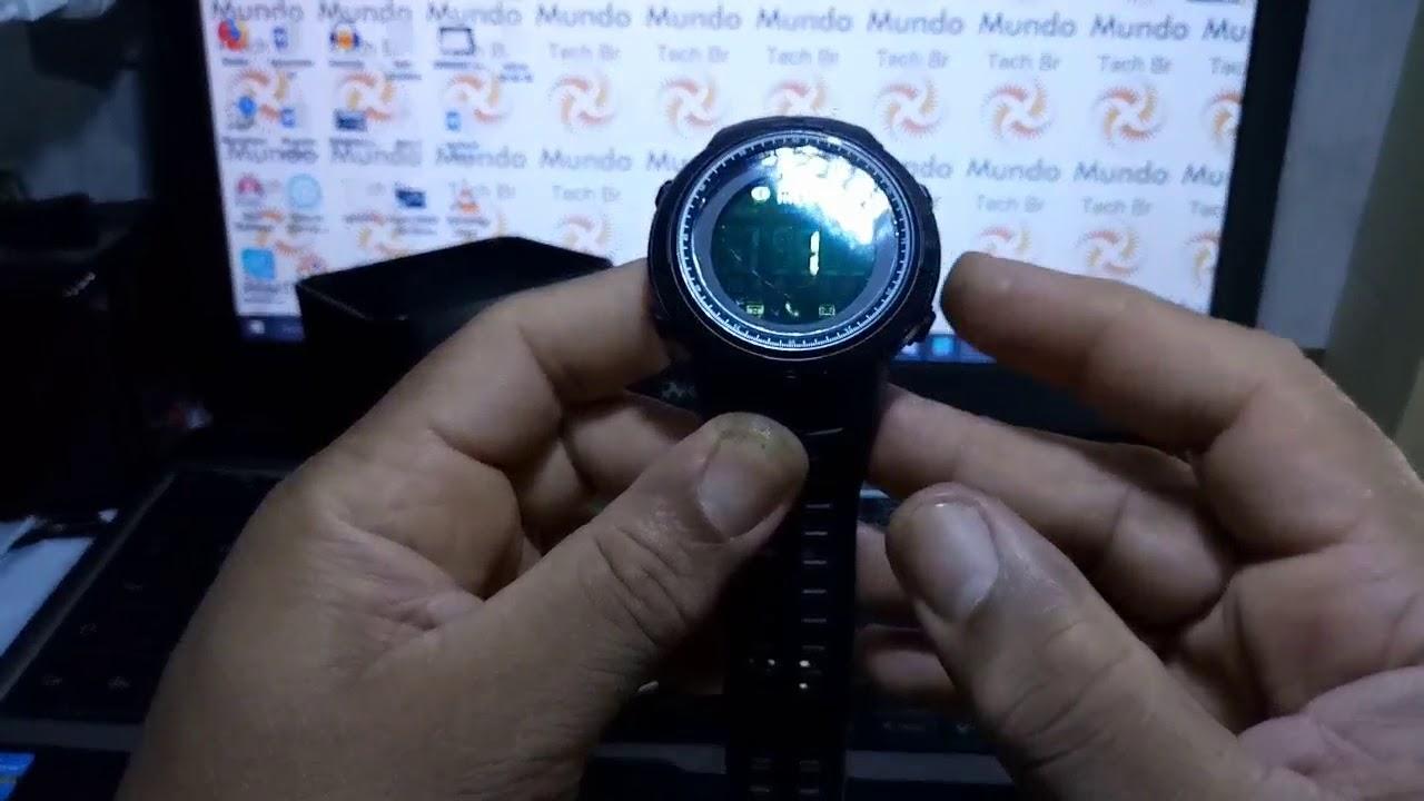 56ea49443ef Relógio Skmei 1250 Pedômetro Bluetooth - Algumas funções e ajustes (Pt-br)  Brasil